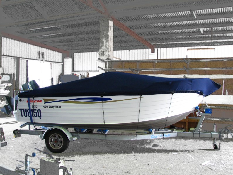 Allover cover to gunwale