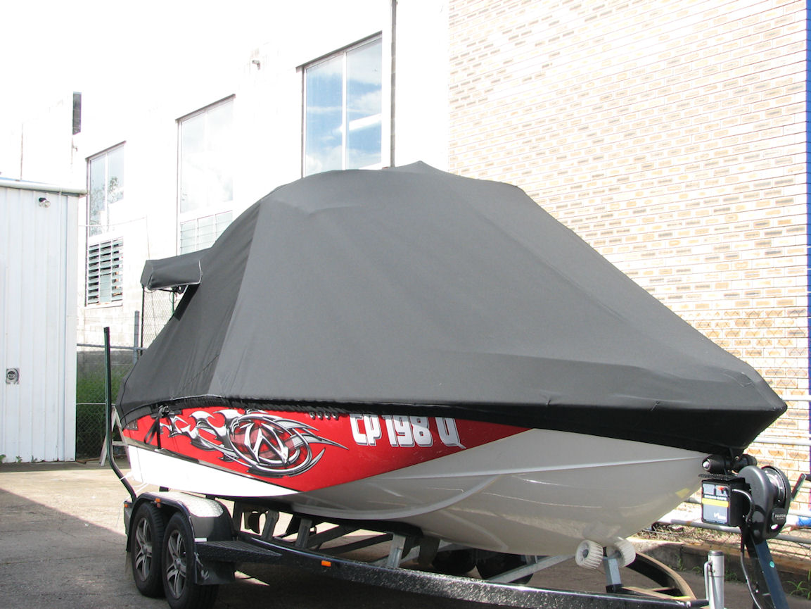 Allover cover over tower with wake board rack covers