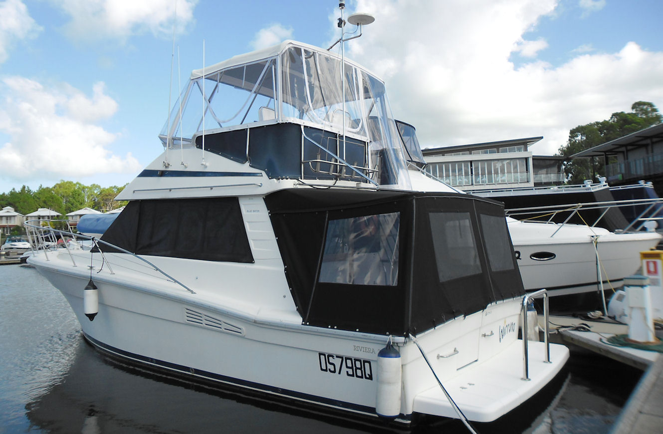 Flybridge bimini & Clears and Rail covers, Cockpit covers and saloon window breezway covers